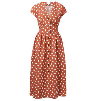 Polka dot dress for curvy body types