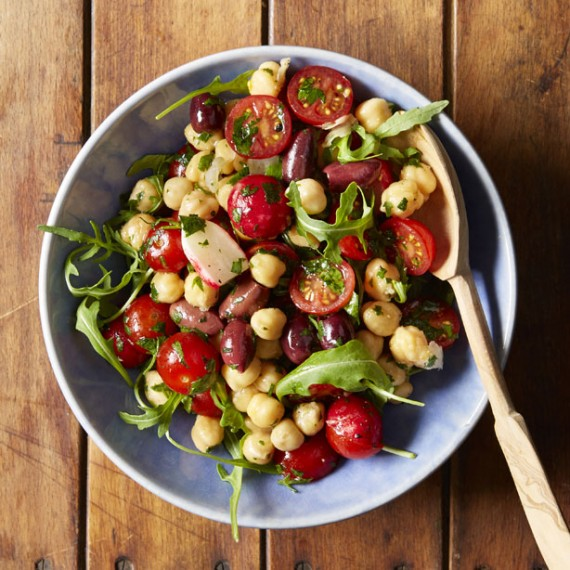 Simple Chickpea Salad Bowl