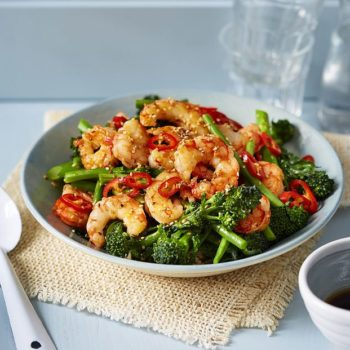 Rice Bowls With Prawns And Broccoli Recipe