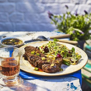 Korean-Style BBQ Steak With Soy And Sesame Dip Recipe