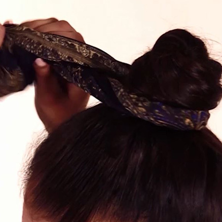 easy hairstyles tie scarf