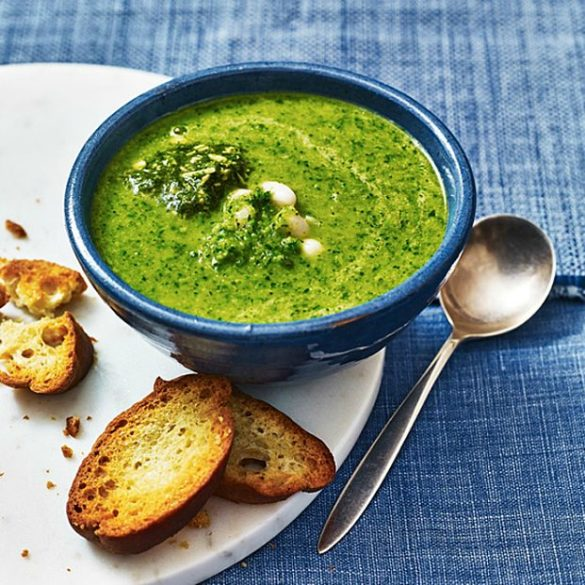 Super green soup with beans recipe