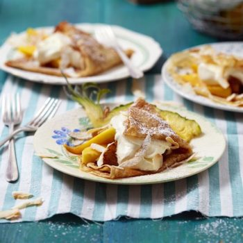 tropical fruit pancakes