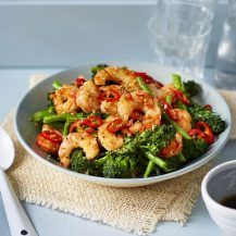 Easy Rice Bowls With Prawns And Broccoli Recipe
