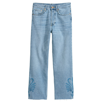 mom jeans baggy H&M