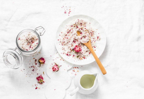 homemade body scrub rose petal