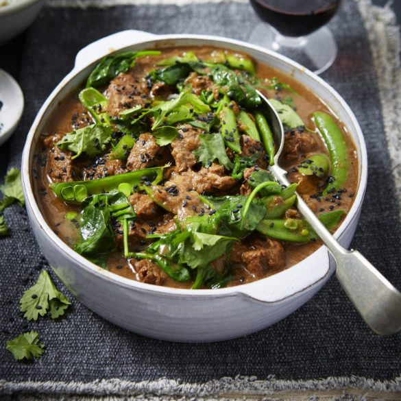 sticky tamarind curry with beef recipe