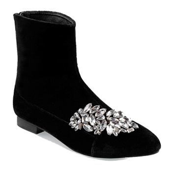 winter flats embellished boots