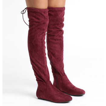 winter flats knee high boots