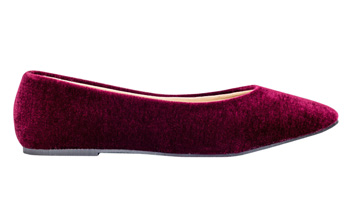 winter flats velour pumps