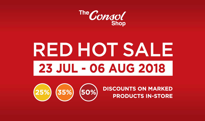 Don't Miss The Consol Red Hot Sale!