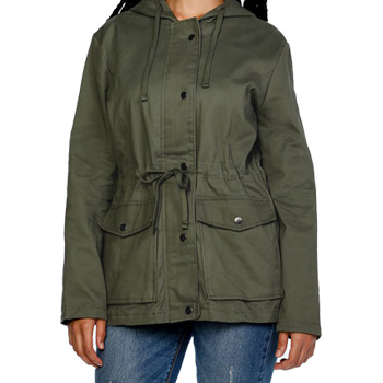 slimming clothes parka
