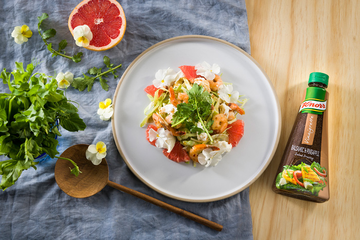 Knorr Signature Salads: Fennel, prawn and grapefruit salad with buffalo mozzarella