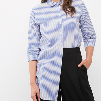 slimming clothes long-line shirt