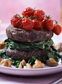 Low-Carb Mushroom and Bean Burgers Recipe