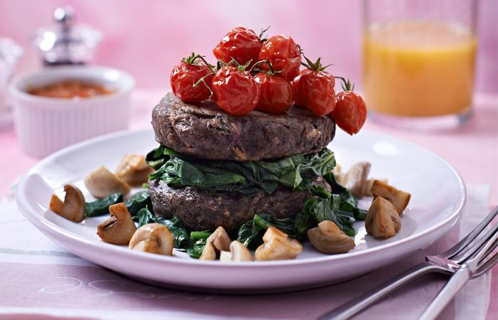 Low-Carb Mushroom and Bean Burgers Recipe