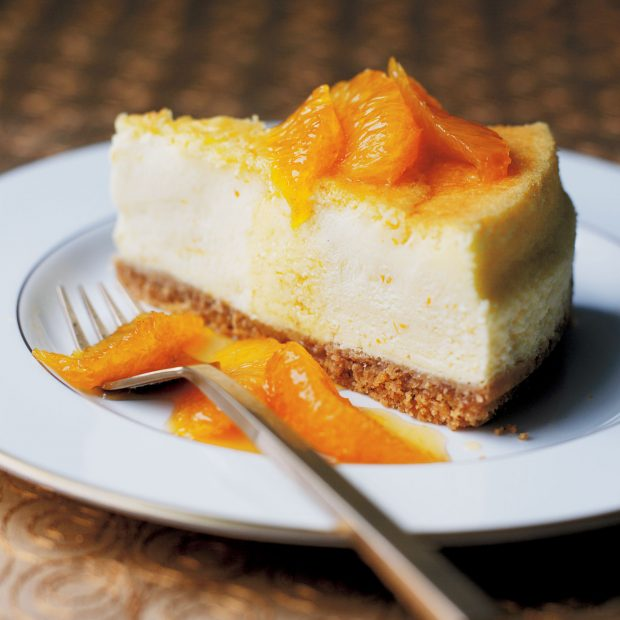 Baked Orange Cheesecake with Caramelised Oranges Recipe