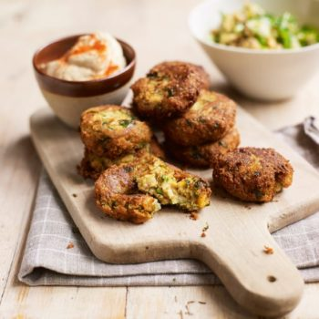 Falafel With Hummus And Grains Recipe
