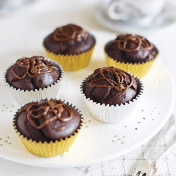 Vegan chocolate muffins recipe