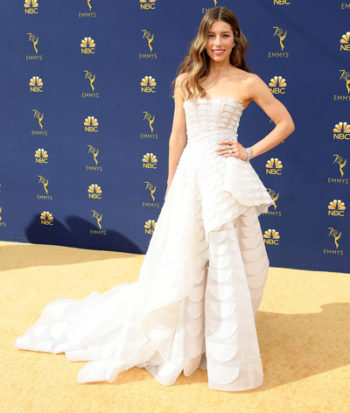 Red carpet dresses at the Emmys
