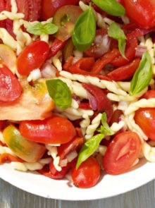 Trofie Pasta Salad With Tomatoes And Peppers Recipe