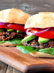 Meat-Free Spicy Lentil Burgers