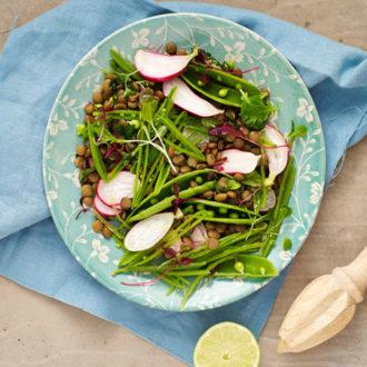 Super Quick And Easy Vegetarian Lentil Salad
