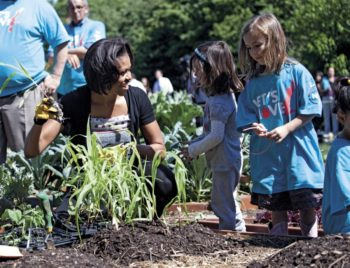 Michelle Obama at a Garden Harvest Event at the White House