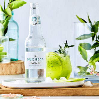 Non-alcoholic Gin and Tonic Cocktail Recipe with Green Apple and Cucumber