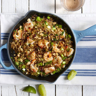 Prawns in lime, honey and chilli Recipe