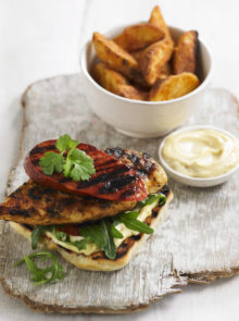 Chicken and Chorizo Burger