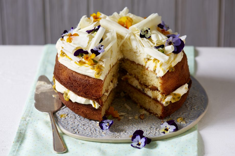 White Chocolate Cake with Passion Fruit Recipe
