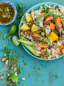 Luxury prawn and rice salad
