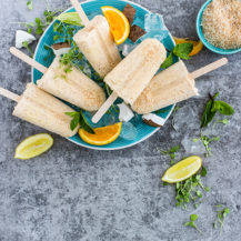 Rice Pudding Ice Lollies With Roasted Coconut Recipe