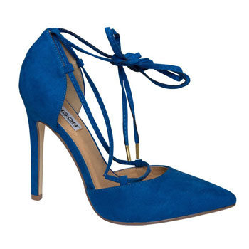 cobalt blue pointy stiletto heels
