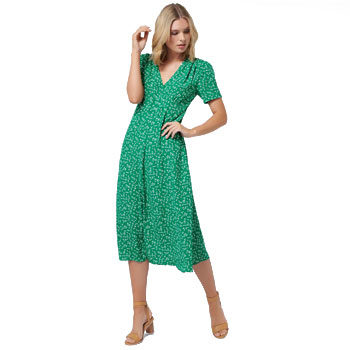 green floral midi summer dresses