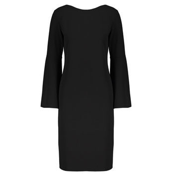 little black bell sleeve dress