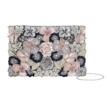 floral embellished clutch for new year's eve