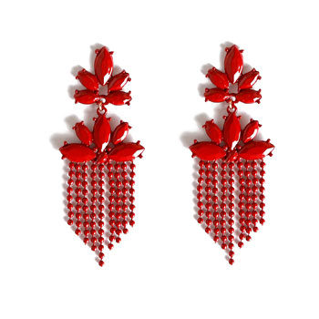 statement red earrings for new year's eve