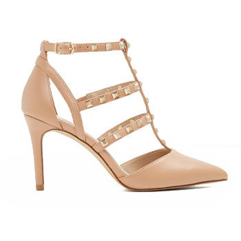 pointy nude stiletto heels for new year's eve