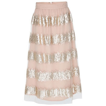 sequins midi skirt for new year's eve