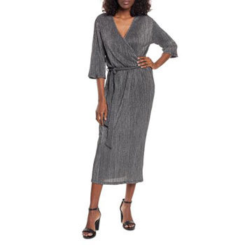 shimmer wrap dress for new year's eve