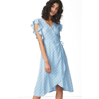 polka-dot frill summer dresses