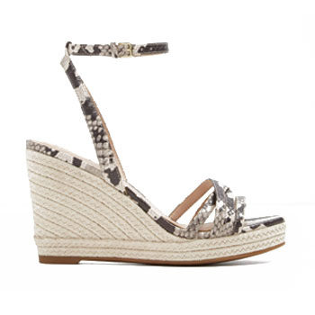 braided printed summer wedge