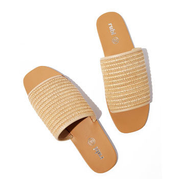ruffia summer open sandal