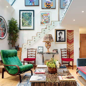 colourful house interior