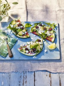 Watermelon pizza with feta recipe