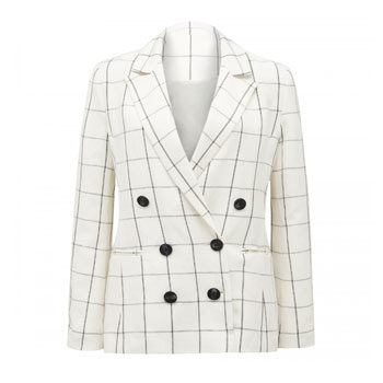 work wear grid check blazer