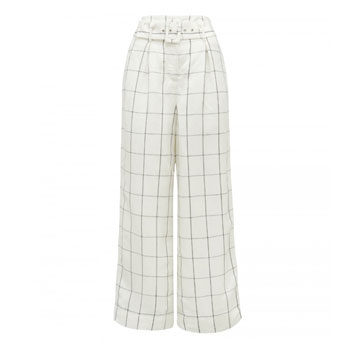 work wear grid check trouser