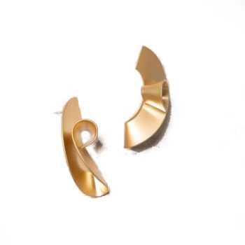 statement brass work earrings